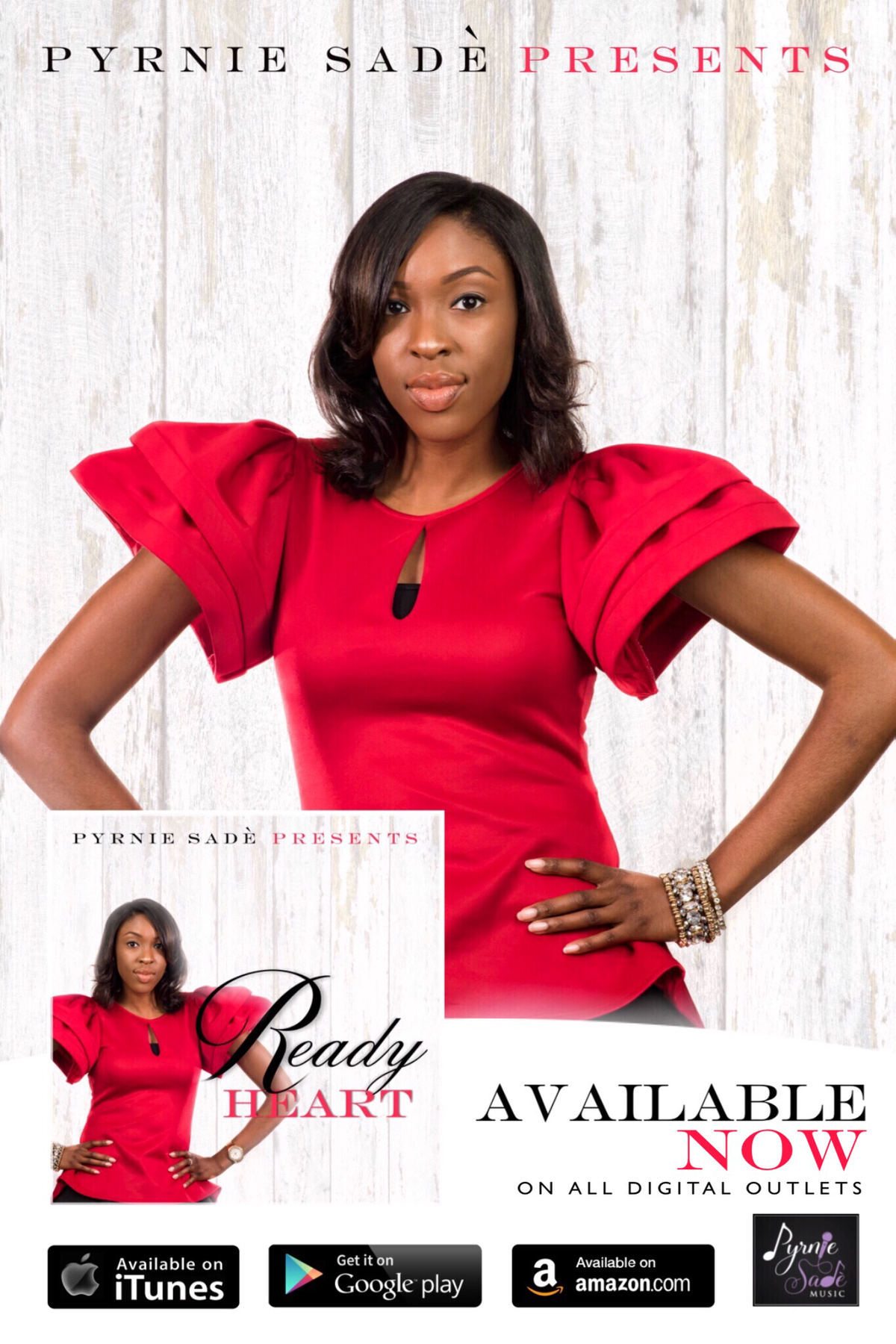 Ready Heart EP by Pyrnie Sadè | Central PA singer, songwriter, gospel recording artist, musician, entrepreneur, author
